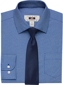 Mens Boys Shirts, Shirts - Joseph Abboud Boys Blue Geometric Print Shirt & Tie Set - Men's Wearhouse
