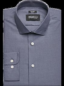 Awearness Kenneth Cole Navy Dobby Slim Fit Dress Shirt