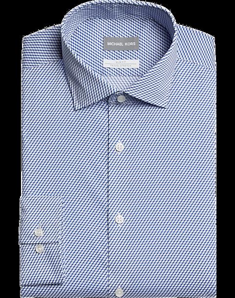 2-Pack Michael Kors Slim Fit Dress Shirt, Blue Print