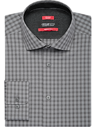 Awearness Kenneth Cole Gray Check Slim Fit Dress