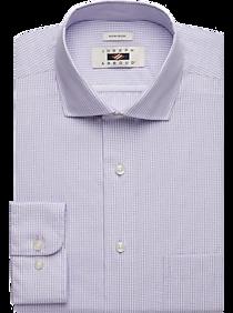 Mens Non-Iron Dress Shirts, Shirts - Joseph Abboud Lavender Gingham Dress Shirt - Men's Wearhouse
