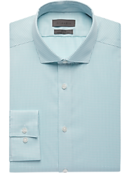 Calvin Klein Infinite Aqua Gingham Check Slim Fit