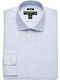 Pronto Uomo Light Blue Stripe Classic Fit Dress Shirt
