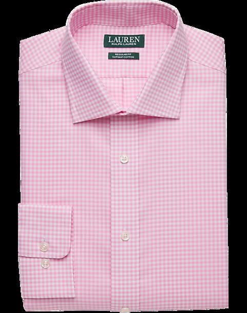Lauren by Ralph Lauren Pink Gingham Regular Fit Dress Shirt