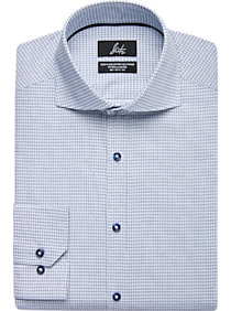 Mens Shirts Starting at 3 For $69, Shirts - Suitor Navy Print Slim Fit Dress Shirt - Men's Wearhouse