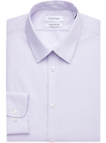 Calvin Klein Infinite Purple Check Regular Fit Dress Shirt
