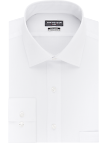 Mens Shirts - Van Heusen Flex Collar White Regular Fit Dress Shirt - Men's Wearhouse