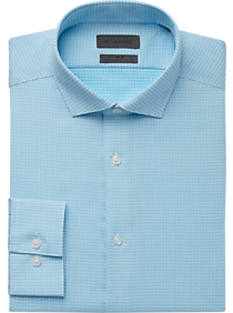 Calvin Klein Turquoise Check Dress Shirt