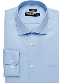 Mens Shirts Starting at 3 For $69, Shirts - Pronto Uomo Light Blue Slim Fit Queen's Oxford Dress Shirt - Men's Wearhouse