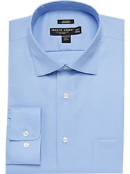 Pronto Uomo Blue Executive Fit Dress Shirt