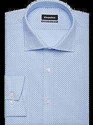 Esquire Blue Dot Print Slim Fit Dress Shirt