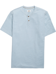 Joseph Abboud Light Blue Short Sleeve Henley Shirt