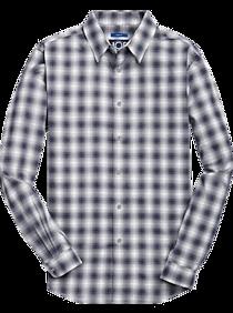 Mens Extra 30% Off Clearance, Shirts - JOE Joseph Abboud Blue Ombre Plaid Sport Shirt - Men's Wearhouse