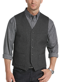 Mens Modern Fit, Vests - Joseph Abboud Modern Fit Charcoal Vest - Men's Wearhouse