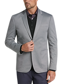 Mens Blazers & Sport Coats, Clearance - JOE Joseph Abboud Stripe Slim Fit Light Gray Jacket - Men's Wearhouse