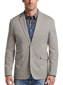 Joseph Abboud Light Tan Tic Casual Coat