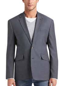 Joseph Abboud Navy Dot Casual Coat
