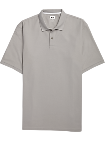 Mens Casual Shirts, Big & Tall - Joseph Abboud Gray Pique Polo - Men's Wearhouse