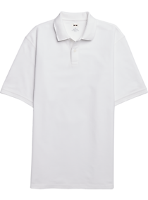 Mens Casual Shirts, Big & Tall - Joseph Abboud White Pique Polo - Men's Wearhouse