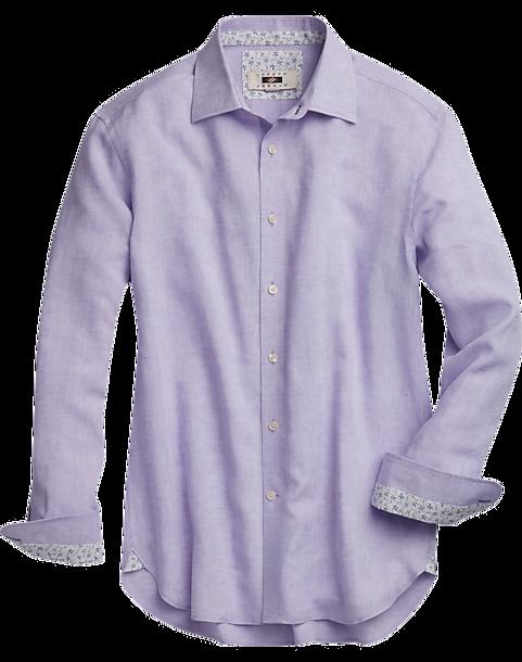 Joseph Abboud Lavender Linen Sport Shirt