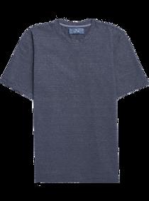 Joseph Abboud Indigo Blue Crew Neck T-Shirt, Blue Stripe