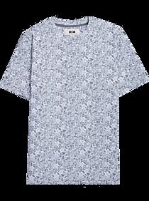 Joseph Abboud Gray Floral Crew Neck Shirt