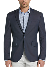 JOE Joseph Abboud Navy Tipped Casual Coat