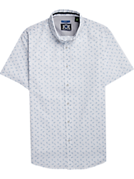 JOE Joseph Abboud Repreve® White & Blue Paisley