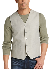 Mens Modern Fit, Vests - Joseph Abboud Tan Vest - Men's Wearhouse