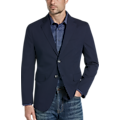 Egara Orange Slim Fit Casual Coat, Navy Seersucker