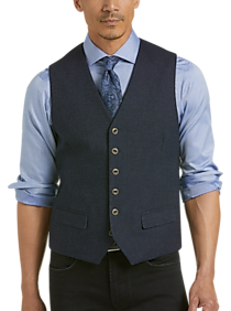 Mens Modern Fit, Vests - Joseph Abboud Navy Twill Modern Fit Vest - Men's Wearhouse