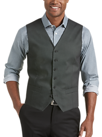 Mens Vests, Clearance - JOE Joseph Abboud Repreve® Gray Slim Fit Vest - Men's Wearhouse