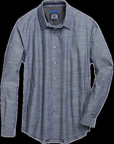 JOE Joseph Abboud Navy Blue Diamond Sport Shirt