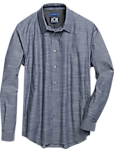 JOE Joseph Abboud Navy Blue Diamond Sport Shirt