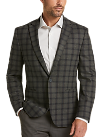 Mens Extra 30% Off Clearance, Clothing - JOE Joseph Abboud Gray Plaid Slim Fit Casual Coat - Men's Wearhouse