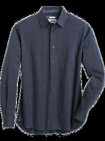 Joseph Abboud Blue Woven Stripe Modern Fit Sport Shirt