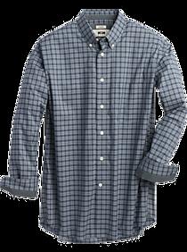 Joseph Abboud Blue Plaid Classic Fit Sport Shirt