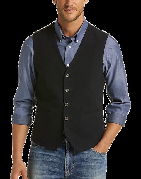 Mens Wearhouse Men's Joseph Abboud Navy Modern Fit Vest