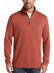 Joseph Abboud Orange 1/4 Zip Mock Neck Modern Fit Pullover