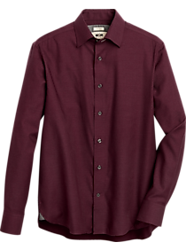 Mens Extra 30% Off Clearance, Clothing - Joseph Abboud Burgundy Modern Fit Sport Shirt - Men's Wearhouse