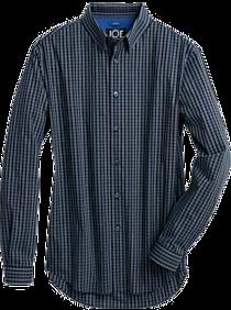 Mens Extra 30% Off Clearance, Clothing - JOE Joseph Abboud Repreve® Blue Gingham Slim Fit Sport Shirt - Men's Wearhouse