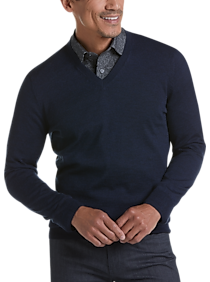 Mens Active & Performance, Sweaters - Joseph Abboud Blue 37.5® Technology V-Neck Sweater - Men's Wearhouse