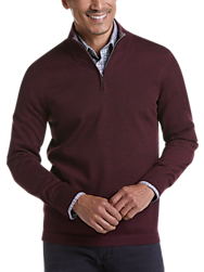 Joseph Abboud Burgundy 37.5® Technology 1/4 Zip Mock