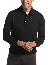 Joseph Abboud Black 37.5® Technology Polo Sweater