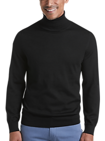 Mens - Joseph Abboud Black 37.5® Technology Turtleneck Sweater - Men's Wearhouse