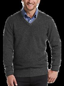 Mens - Joseph Abboud Black Modern Fit V-Neck Sweater - Men's Wearhouse