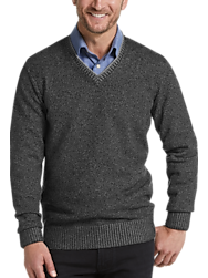 Joseph Abboud Black Modern Fit V-Neck Sweater