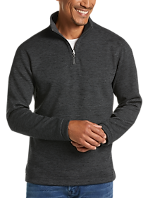 Mens Extra 30% Off Clearance, Shirts - Age Of Wisdom Charcoal 1/4 Zip Fleece Pullover - Men's Wearhouse