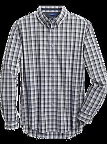 Mens - JOE Joseph Abboud Repreve® Olive Plaid Slim Fit Sport Shirt - Men's Wearhouse