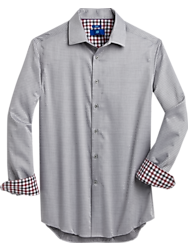 Egara Gray Diamond Slim Fit Sport Shirt